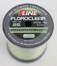 P-Line Floroclear 2700yd. Spool 25lb. Flourocarbon Coated Fishing Line NEW