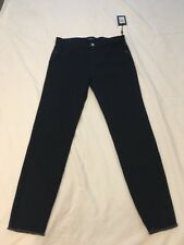 DKNY Cropped Stair-Step Jeans Women Women's Clothing Dark Blue Sz 28 MSRP $79