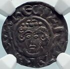 JOHN King of England in Name of Henry II 1207AD Silver Penny Coin NGC i81863