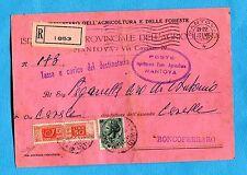 PACCHI POSTALI USATI COME SEGNATASSE - Cartolina carta rosa di Ente  (236045)