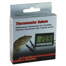 Thermometer Deluxe mit zwei Fernfühlern Terrariumthermometer Aquariumthermometer