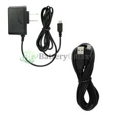 USB 10FT Cable+Battery Wall Charger for Phone Samsung Galaxy S S2 S3 S4 S5 S6 S7