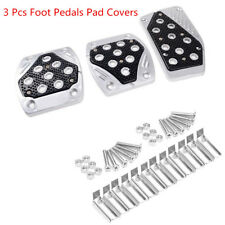3 Pcs Aluminum Alloy APC Non-Slip Foot Pedals Pad Covers Manual Transmission M/T
