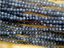 """4mm Faceted grey Ruby Loose Beads Gemstone 15"""" AAA##CH360"""