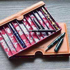 Esterbrook Vegan Tan Brown Leather Twelve 12 Fountain Pen Nook Case