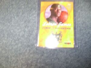 2002 LeBRON JAMES HIGH SCHOOL CARD  ROOKIE GOLD MINT NM