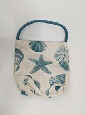 New listing Lunch Bag Sea Shells Cotton Insulated Ocean Rope Handle Pocket Starfish