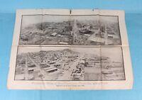 ORIGINAL 1906 SAN FRANCISCO EXAMINER PHOTOGRAPH OF PANORAMIC VIEW OF EARTHQUAKE