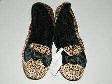 Charter Club Women's Indoor/Outdoor Slippers Leopard NWT Size L 9-10