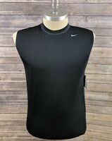 New Nike Dri-Fit Mens Top Vest Black Size Large