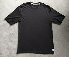 ONLY & SONS black tshirt ~ size LARGE, deep black, plain classic tee