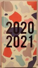 Slim 2020 / 21 Academic diary Splodges 16cm x 8.75cm week to view