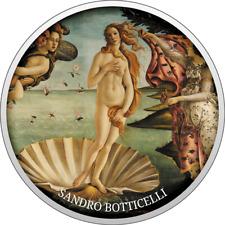 2017 Cameroon Cameroun The Birth of Venus Botticelli silver coin 555 mintage