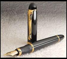 Edler Füller * M FEDER 18K VERGOLDET * Schwarz / Gold * Fountain Pen