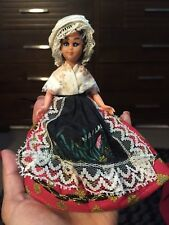 """Vintage Antique Hard Plastic French Doll Mark Ms Deposee 6"""" Tall Collectable"""