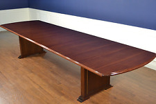 Leighton Hall Large Long Traditional Mahogany Conference Table