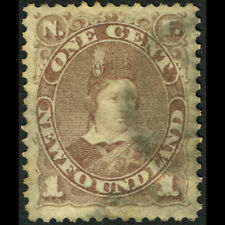 NEWFOUNDLAND Canada 1880-82 1c Dull Grey Brown. SG 44. Good Used. (CA316)
