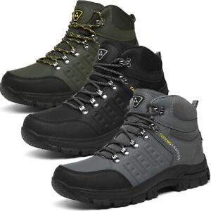 Mens Combat Boots Walking Hiking Casual Lace Up Ankle Boots Trainers Shoes Size