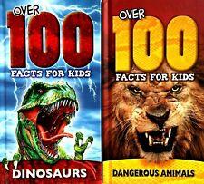 Dinosaurs Dangerous Animals, Set of 2 Books, Over 100 Facts For Kids, Hardback