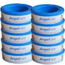 10 x Angelcare Pannolino Biodegradabile Sistema Cassette Ricaricaricabili