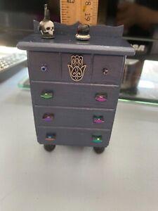 Dollhouse miniature - dresser with hidden compartment & trinkets 1:12