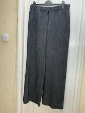 NEW Next Dogtooth Tailoring Wide Pants - UK Size 12R
