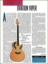Ovation Viper acoustic/electric guitar sound check review 1994 pin-up article