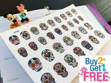 PP352 -- Small Sugar Skulls #B Life Planner Stickers for Erin Condren (32pcs)