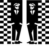 Ska 2 Tone Man Exterior Vinyl Stickers Decals Specials The Beat 2tone Handed x 2