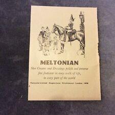 Vintage Advertisement - Meltonian Shoe Creams - U.K. - 1949