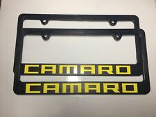 California Yellow Black Chevrolet Camaro Plastic License Plate Frames Holder