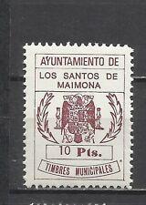 112-SELLO LOCAL NUEVO** SANTOS DE MAIMONA AYUNTAMIENTO TIMBRE MUNICIPAL 10 PTS.