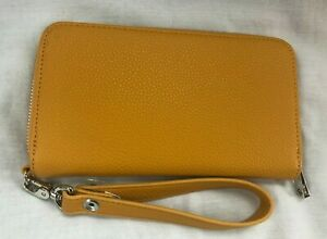 JEWELL BY THIRTY-ONE ZIP AROUND WALLET/WRISTLET YELLOW/GOLD  NWOT