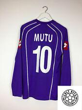 Fiorentina MUTU #10 06/07 L/S Home Football Shirt (M) Soccer Jersey