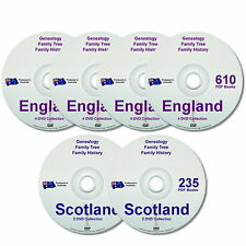 Genealogy Family History England Scotland 845 Old Historic Books 6 New DVDs