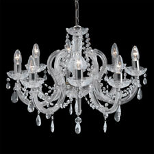 Searchlight Marie Therese 8 Light Crystal Chrome Fitting 399-8