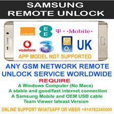 samsung remote unlock code service s8+ sm-g950u 1 to 60 minutes service uk