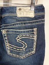 Silver Suki Jeans Tag 27 x 32 Actual 29.5 x 32