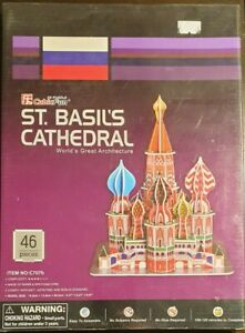 CubicFun St.Basil's Cathedral Moscow Russia 3D Puzzle | 47 Pieces | New & Sealed