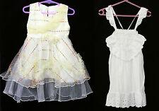 Girls Size Sz 2 Vintage Dresses White Yellow Retro Dress Clothes 90s Toddler Kid