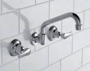 Caroma Trident Lever Wall Sink Set Chrome 96703C4A