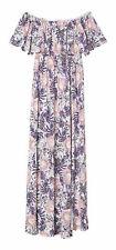 H&M Women's Short Sleeve Shift Dress, White/Botanical - Size 14