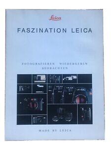 Faszination Leica - sechseitige Produktionsübersicht/Prospekt von IX/92