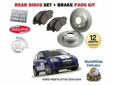 FOR FORD FIESTA ST150 2004-2009 REAR DELPHI BRAKE DISCS SET AND DISC PADS KIT