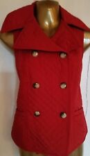 Women's Vest Jacket By Designer Talbots Size Petites S Red Button Down Quilted