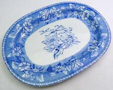 "Antique Wedgwood Morning Glory Pattern Botanical Floral 15.25"" Deep Platter #77"