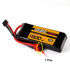 T-Plug Discharger VOK 2S 7.4V1500mAh 25C Lipo Battery For RC Helicopter Use Well