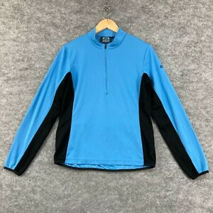 Kathmandu Womens Cycling Jersey Top Size 12 Blue Long Sleeve Zip 185.21