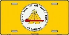 Aluminum License Plate Native American Flag Ponca Tribe NEW