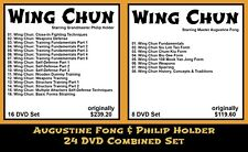 Wing Chun Kung Fu with Augustine Fong & Philip Holder Combined (24 Dvd Set)